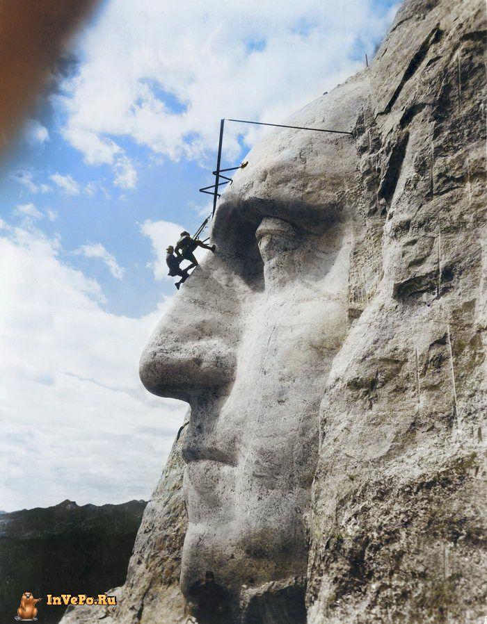 31 мая 1932 года: строительство горы Рашмор в Южной Дакоте.