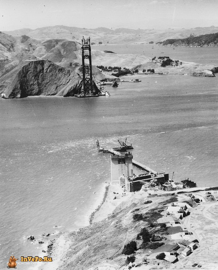 1934 год: создание моста Золотые Ворота в Сан-Франциско.