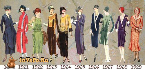 Мода двадцатые годы