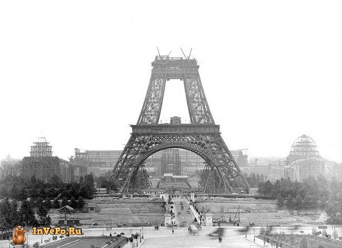 Июль 1888 года: строительство Эйфелевой башни.