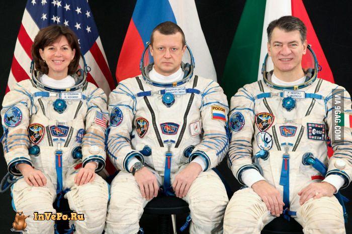 Почему не улыбнулся русский космонавт (1 фото)