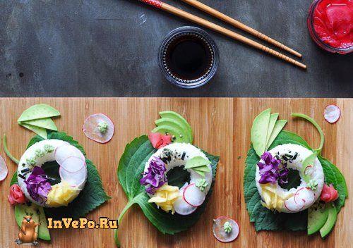 Суши-пончики, скоро станут всемирным трендом! (5 фото)
