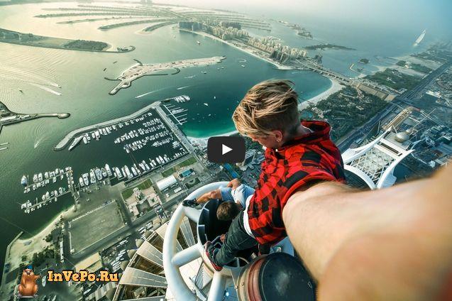 Сальто на краю небоскреба в Дубае