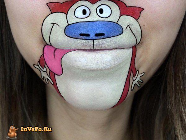 Художник делает удивительных мультперсонажей из губ