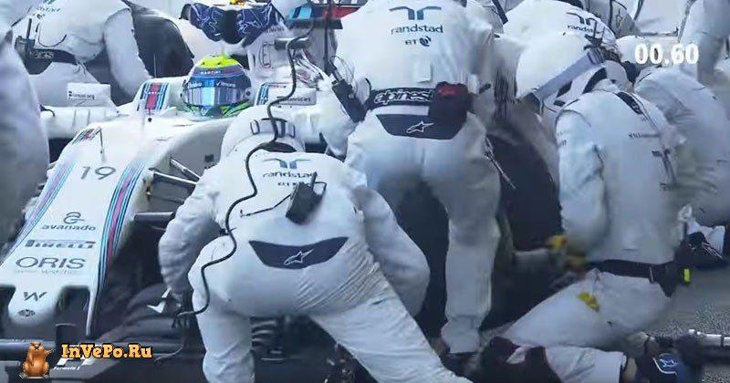 Самый Быстрый Пит Стоп ( Pit Stop) F1 (1,92 секунд)