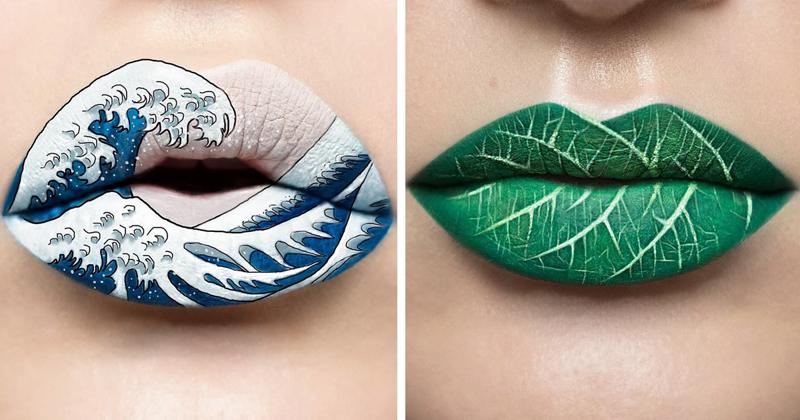 Визажист превращает губы в Потрясающие произведений искусства (10 фото)