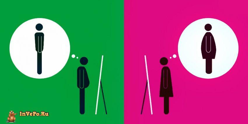 Как видят себя мужчины, а как - женщины