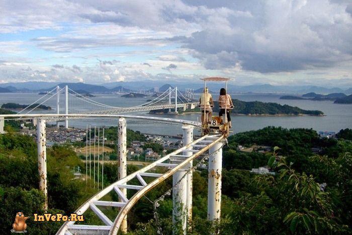 Крути Педали Или Экстремальный аттракцион «Sky Cycle» в Японии (7 Фото+1Видео)