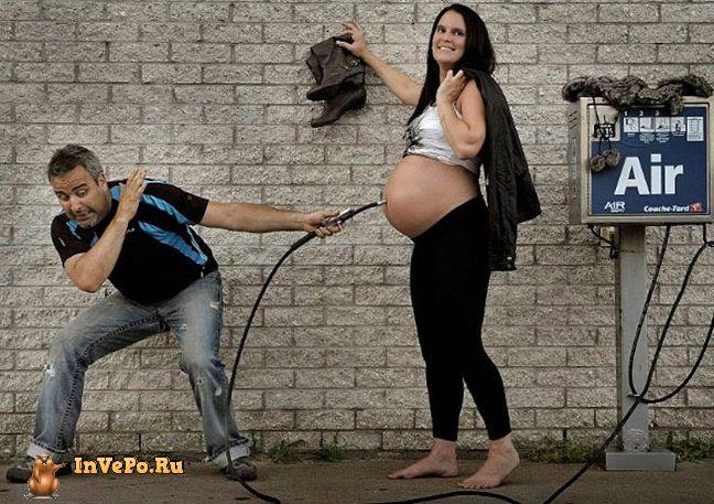 15 веселых и креативных фотографий ДО и ПОСЛЕ беременности