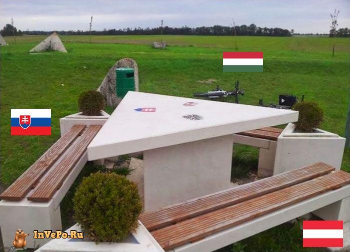 Границы Словакии, Австрии и Венгрии