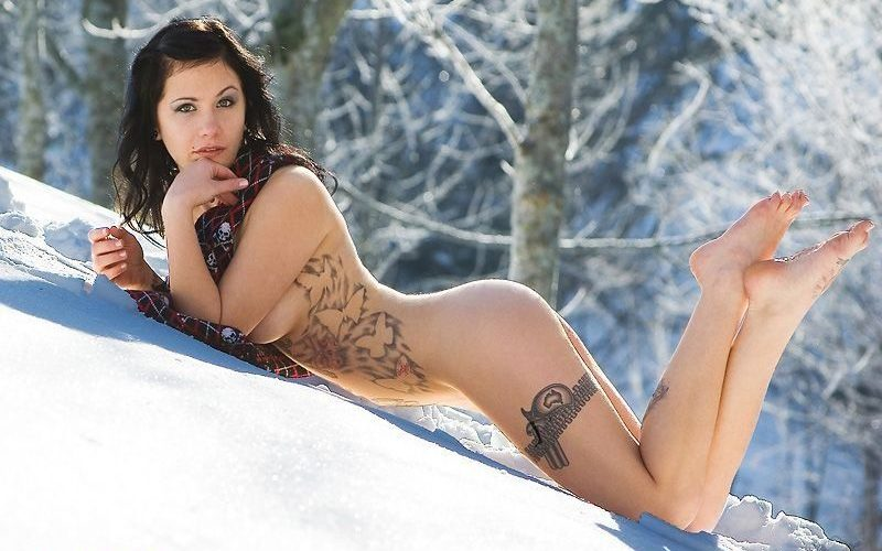 Фото Горячих Девушек Зимой