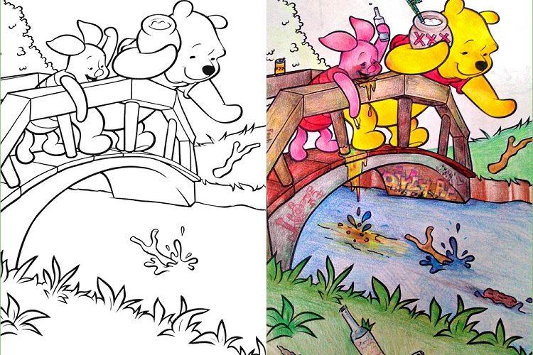 Вот что получится если детские раскраски окажутся во взрослых руках