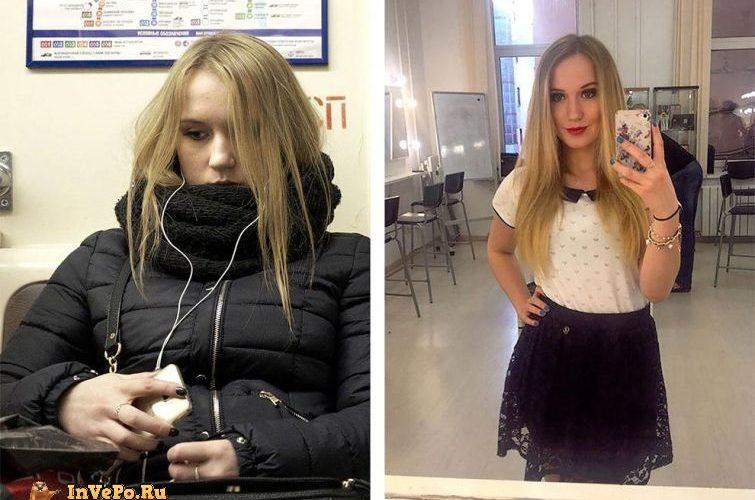 Российский фотограф снимает случайных пассажиров метро а затем находит их профили в социальных сетях