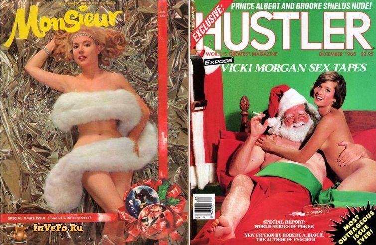 Винтажные рождественские обложки мужских журналов