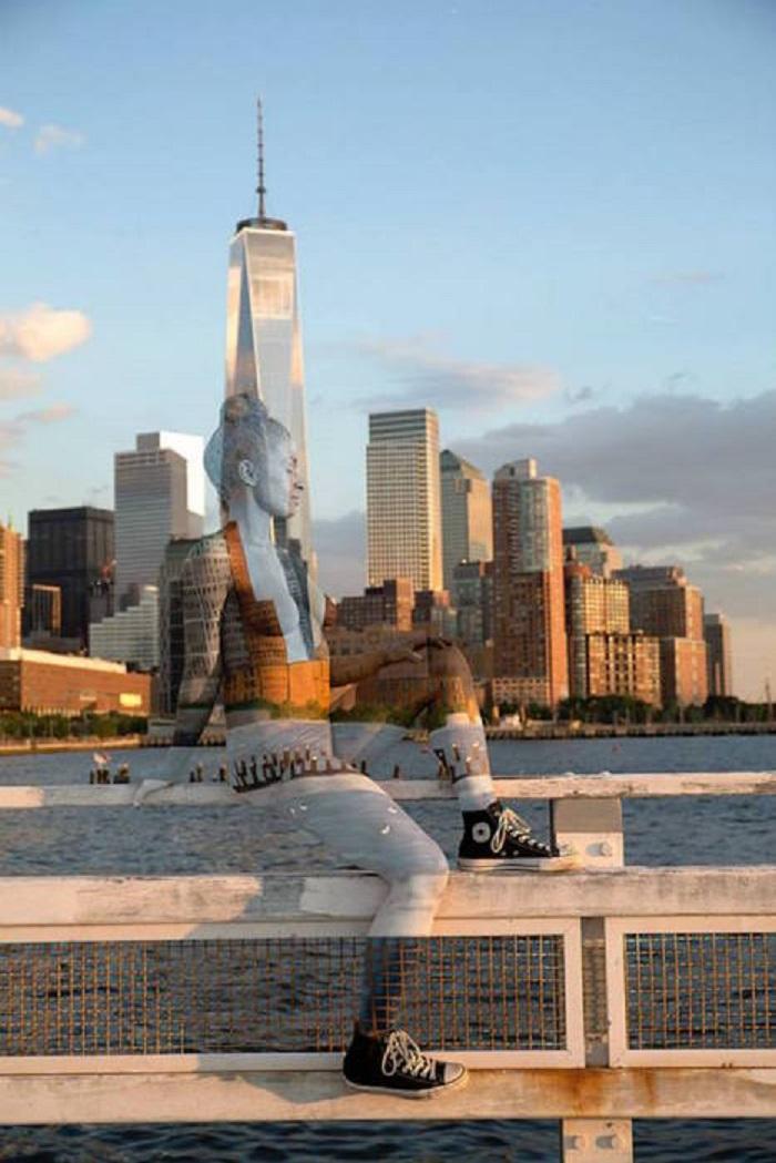 Потрясающий Боди-арт на фоне знаменитых достопримечательностей