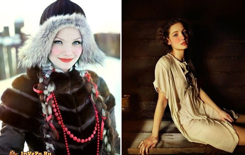 Настоящая славянская красота в зимних фотографиях