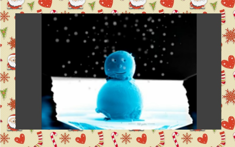 Посмотри на самого маленького снеговика во Вселенной!