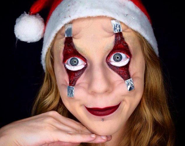 17 новогодних мейк-апов, которые будут преследовать вас в худших кошмарах