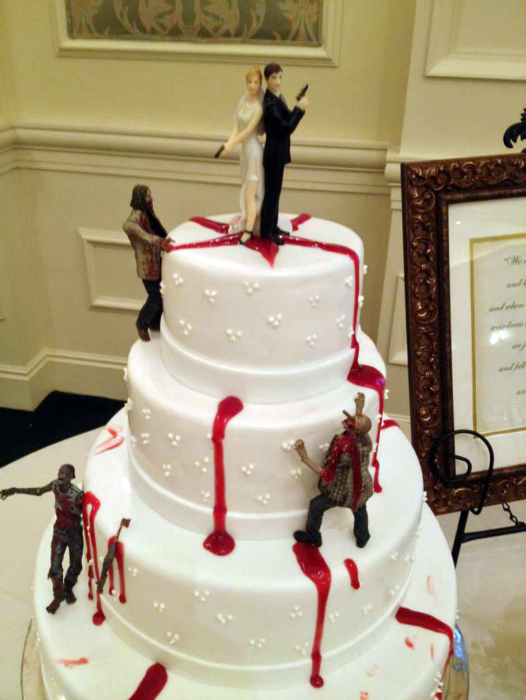 торт Молодожены против зомби