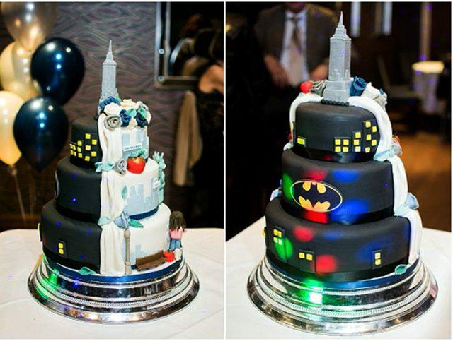 Двухсторонний свадебный торт