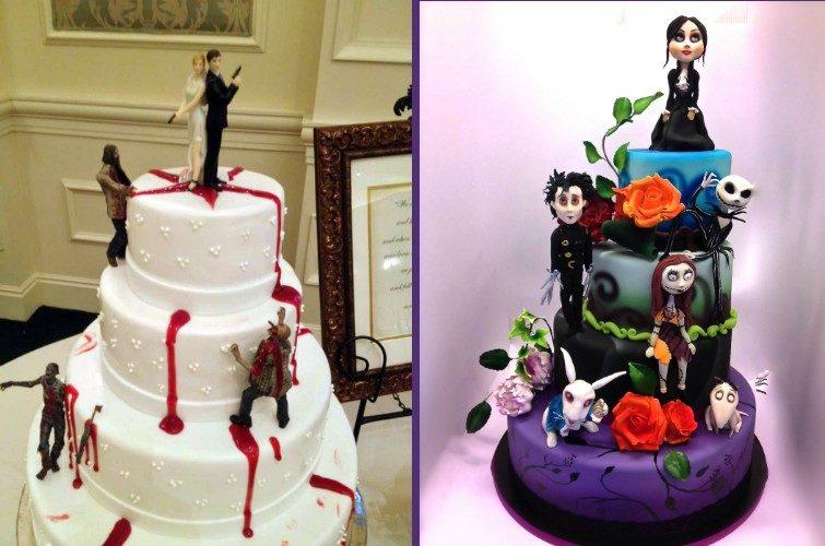 Оригинальные тематические торты для свадьбы