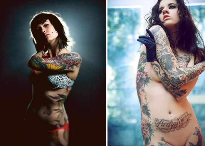 Искусство тату: великолепные рисунки на женских телах