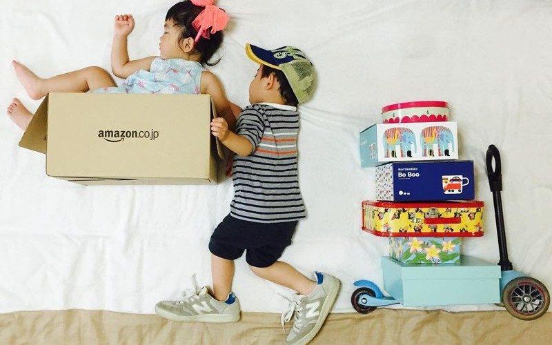 Японка Айюми Омори создает оригинальные фотографии своих спящих детей