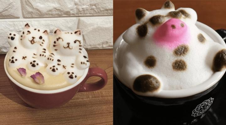 Латте арт: 3D-пенка на поверхности кофе (9фото)