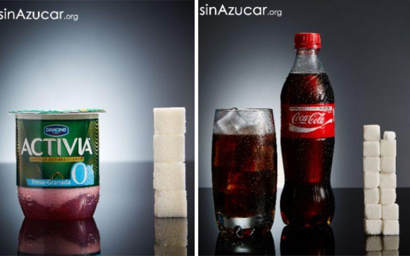 Наглядный пример того, сколько сахара содержится в продуктах