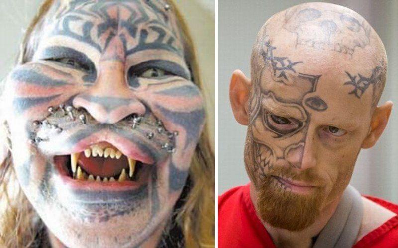 Самые странные татуированные лица