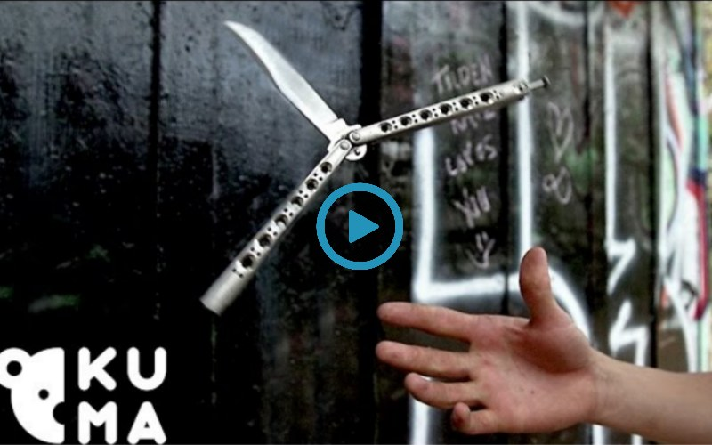 Невероятные трюки, выполненные Балисонгом (нож-бабочка)(Видео)