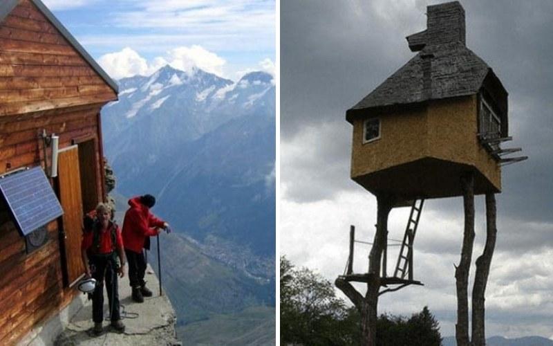 15 необычных домов, построенных в экстремальных местах