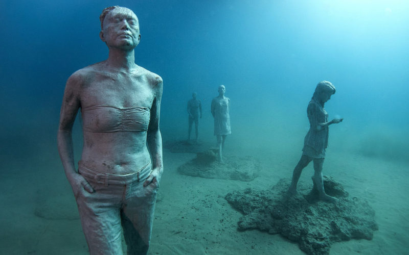 Подводный музей Atlantico в Европе паразит вас своей красотой