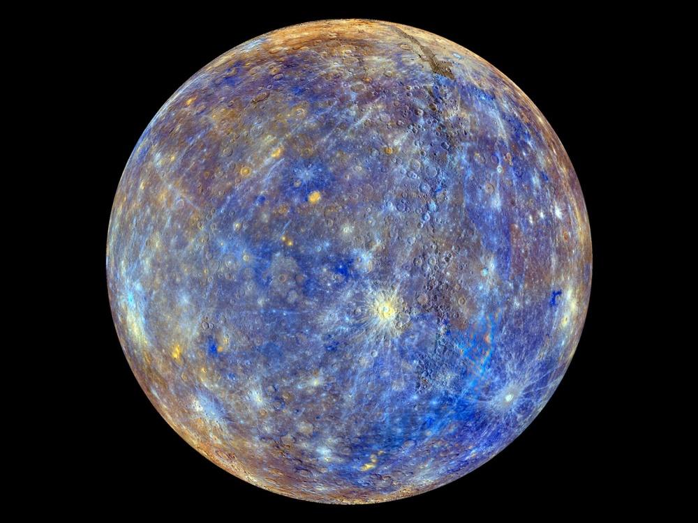 Самое четкое на сегодняшний день изображение Меркурия.