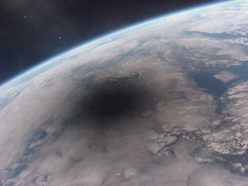Так выглядит затмение из космоса.