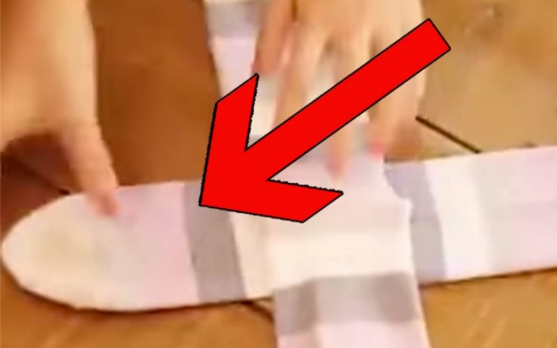 Вы складывали носки совершенно неправильно - посмотрите новый простой метод