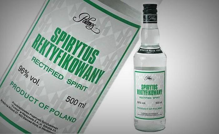 1. Spirytus – 96% самый крепкий алкоголь