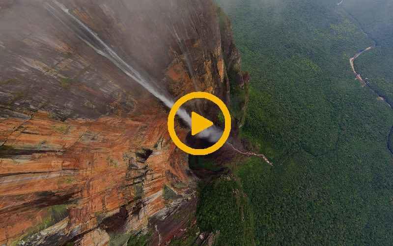 8K-видео Самого высокого водопада в мире