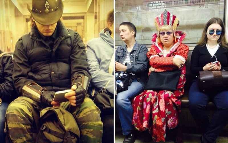Модные люди московского метро
