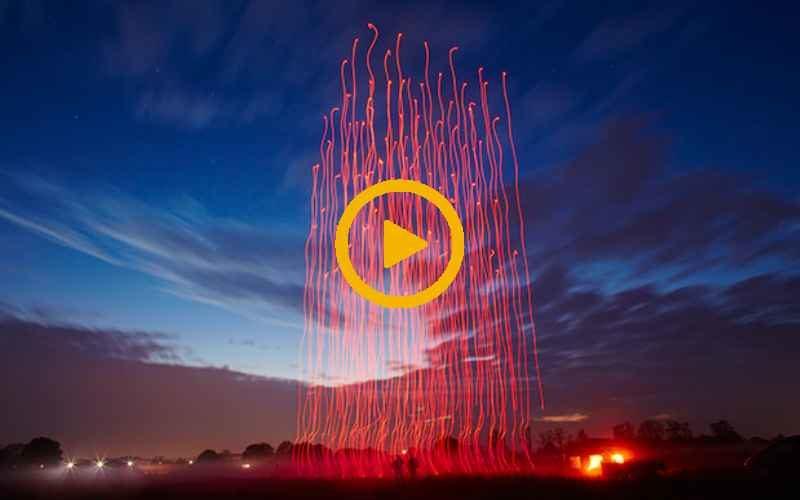 Новый мировой рекорд по количеству квадрокоптеров в небе