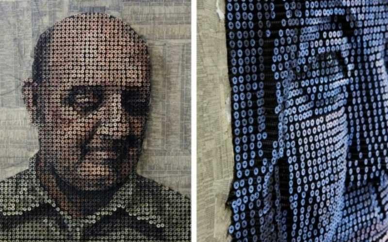 Уникальные 3Д портреты, созданные из обыкновенных саморезов