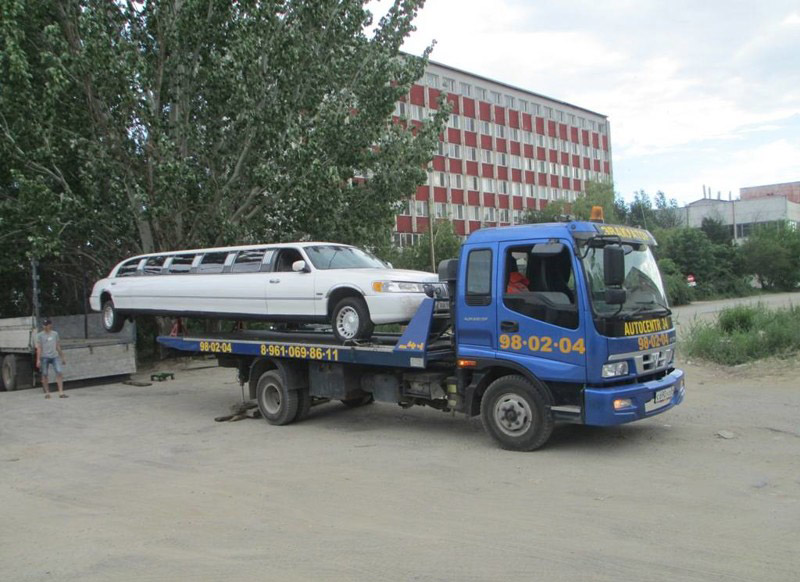 Как же эвакуируют лимузин?