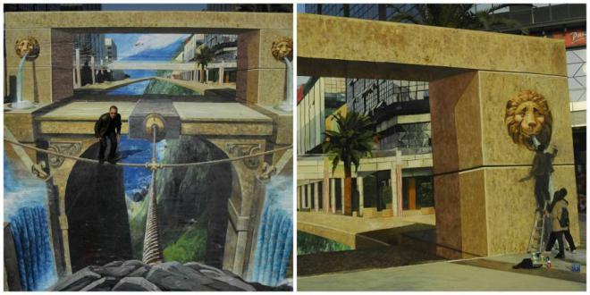 Самые большие 3D-рисунки на асфальте