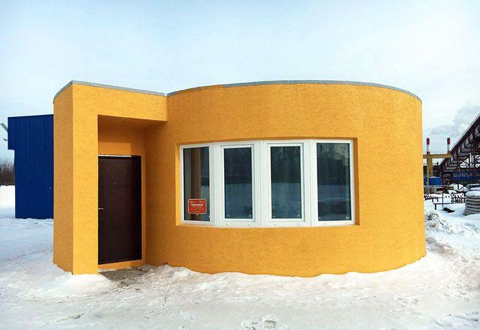 Дом, напечатанный на 3D-принтере (10 фото)